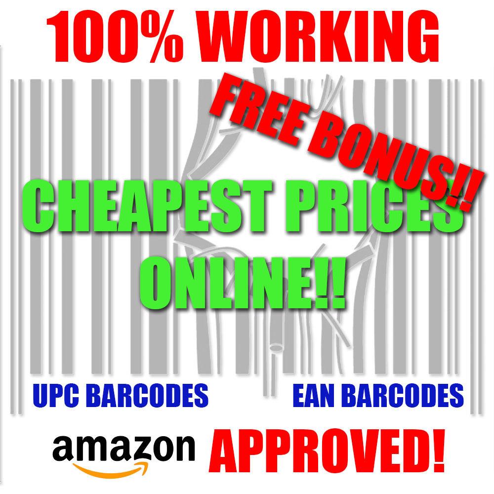 5,000 UPC Barcodes